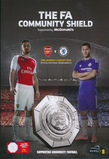 2015 FA Community Shield Chelsea v Arsenal - official match programme